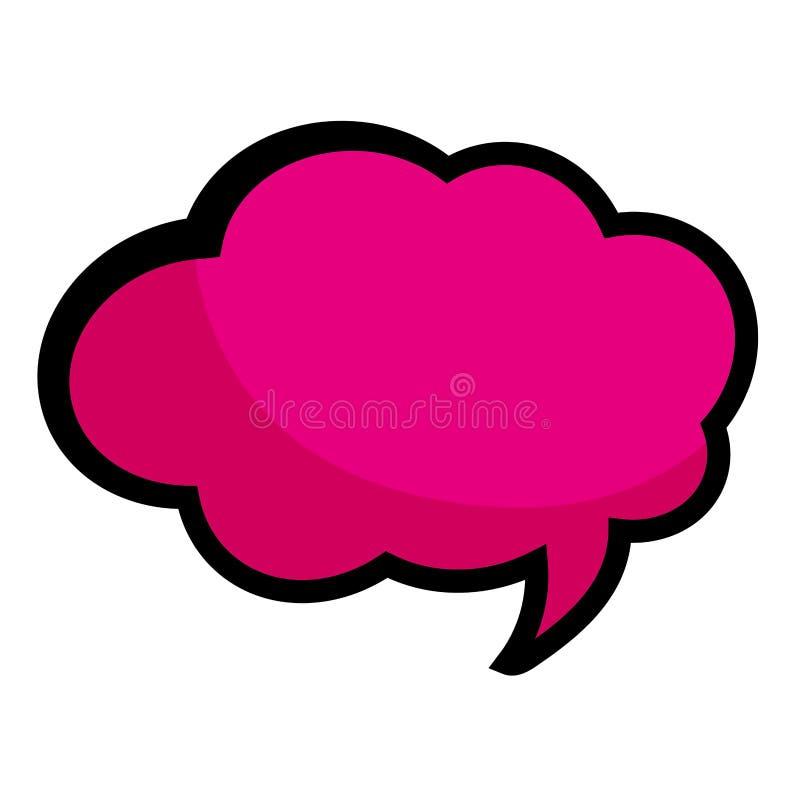Pop-art roze het denken bellenbeeldverhaal vector illustratie