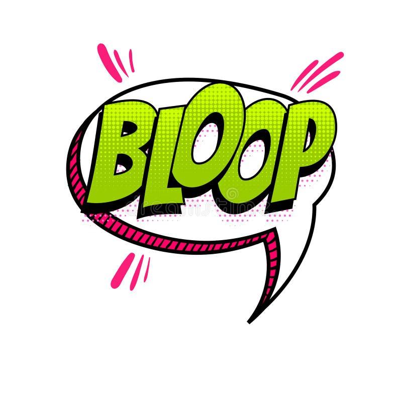 Pop art sadio do texto cômico da língua espanhola ilustração stock