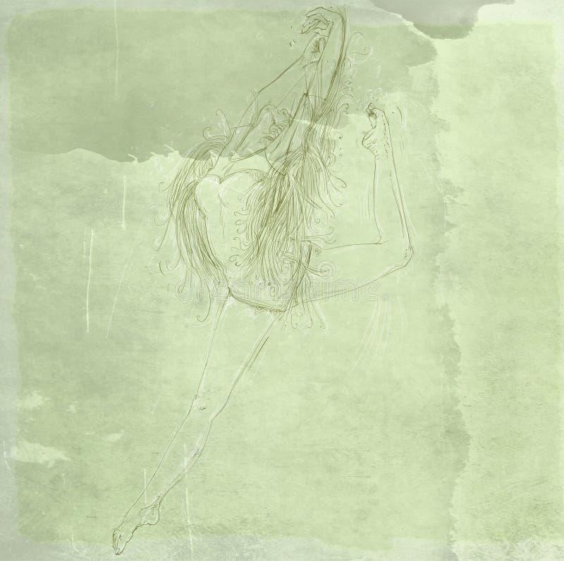 Acrobat dancer vector illustration