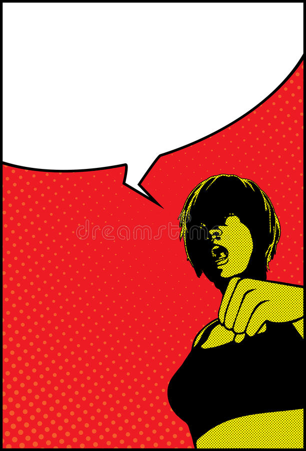 Download Pop Art Shocked Surprised Girl With Speech Bubble Stock Photo - Image: 32771020