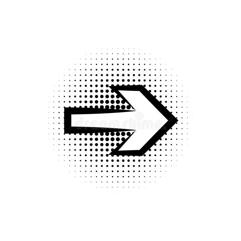 Pop-Art, Spracheblase, Pfeilikone Element der Pop-Arten-Artikone der Spracheblase IC Zeichen und Symbolsammlungsikone für Website stock abbildung