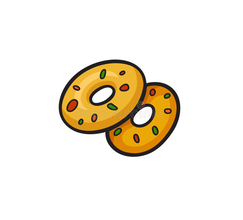 Pop art style donuts sticker vector illustration
