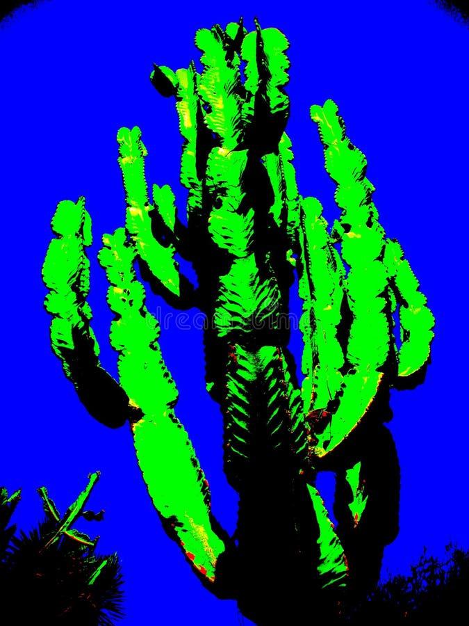 Pop Art Style Giant Cactus arkivbild