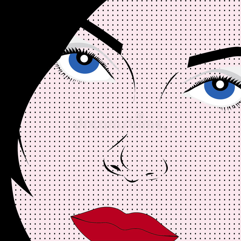 Download Pop art style woman stock vector. Illustration of youth - 6433492