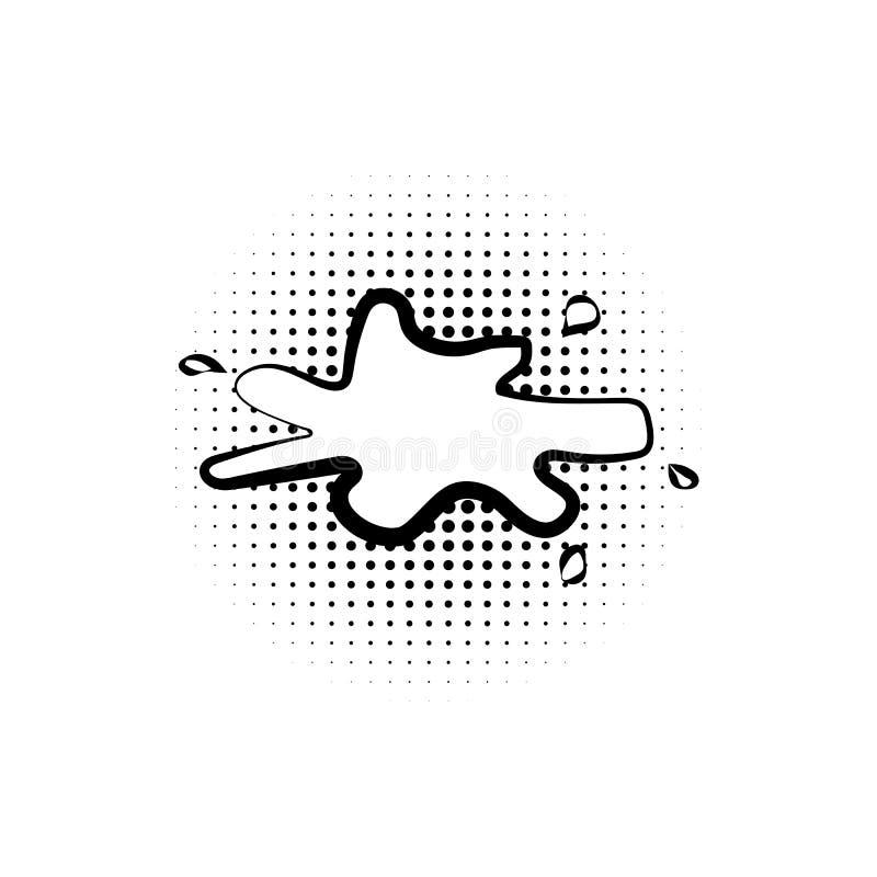 pop-art, toespraakbel, plonspictogram Element van ic van de toespraakbel het pictogram van de pop-artstijl Tekens en symboleninza royalty-vrije illustratie