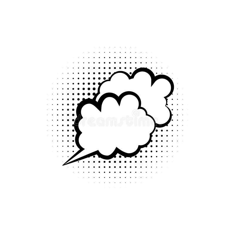 pop-art, toespraakbel, wolkenpictogram Element van ic van de toespraakbel het pictogram van de pop-artstijl Tekens en symboleninz royalty-vrije illustratie