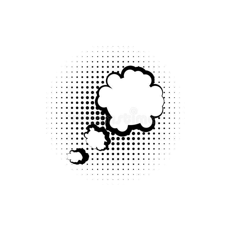 pop-art, toespraakbel, wolkenpictogram Element van ic van de toespraakbel het pictogram van de pop-artstijl Tekens en symboleninz vector illustratie