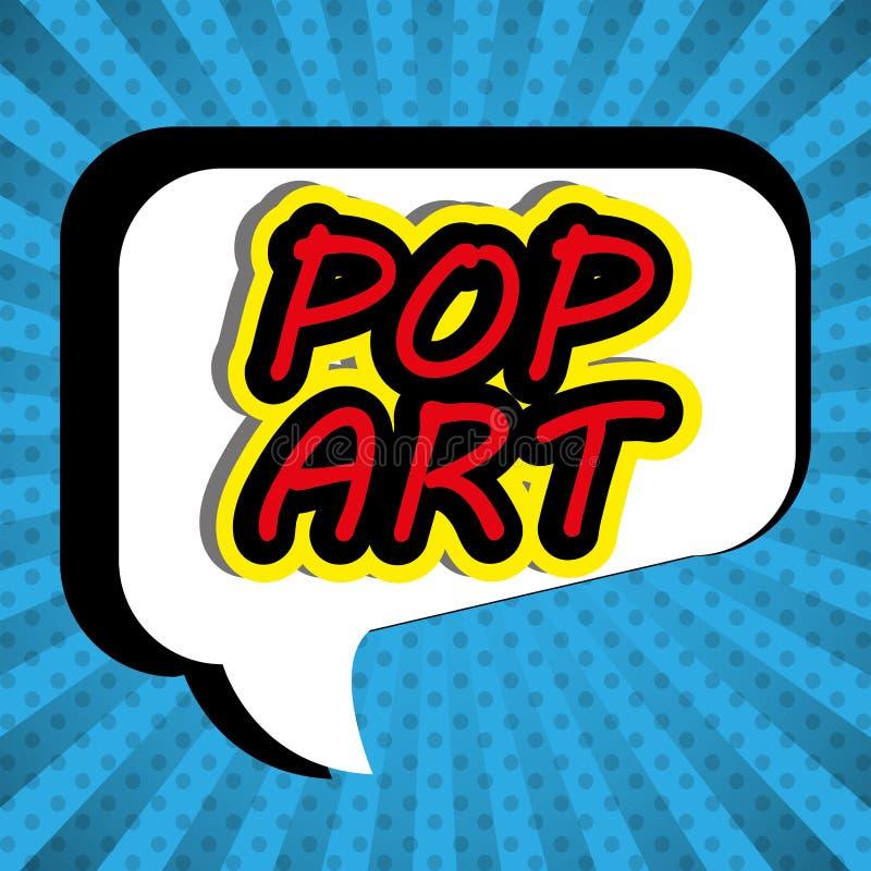 Pop-Art und komisches Design stock abbildung