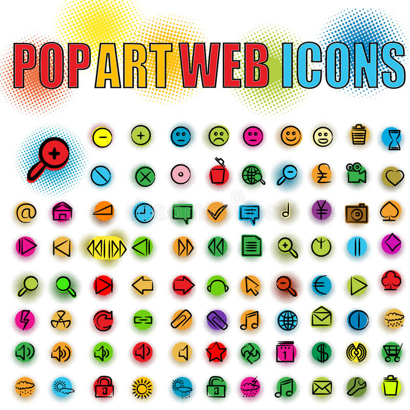Download Pop art web icons stock vector. Illustration of house - 21403926