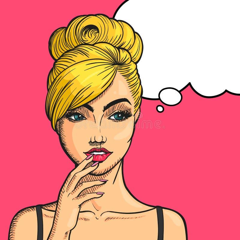 Pop Art Woman stock illustrationer