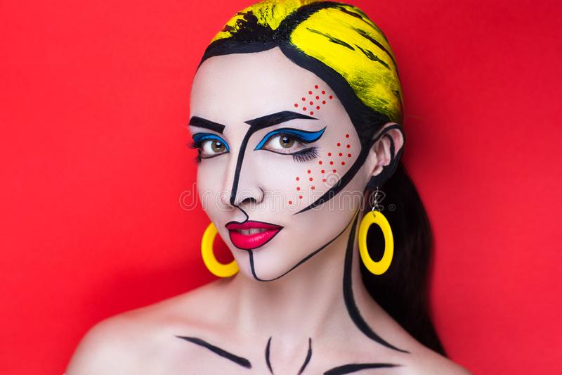 Pop art woman royalty free stock image