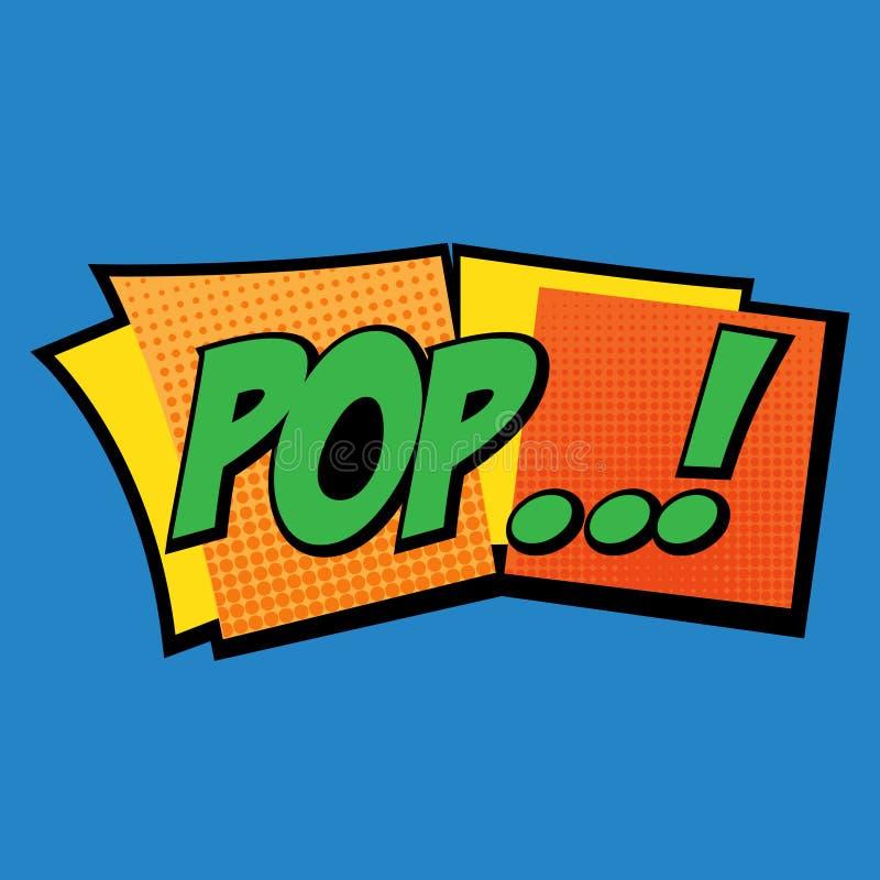 Pop-Arten-Aufkleber lizenzfreie stockfotos
