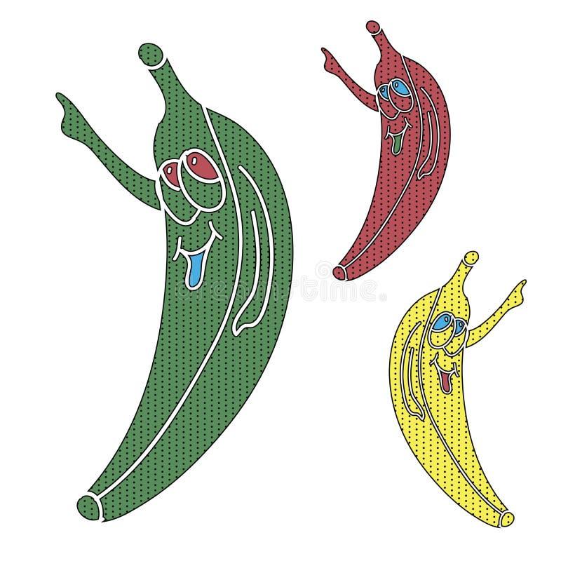 Pop-Arten-Banane stock abbildung