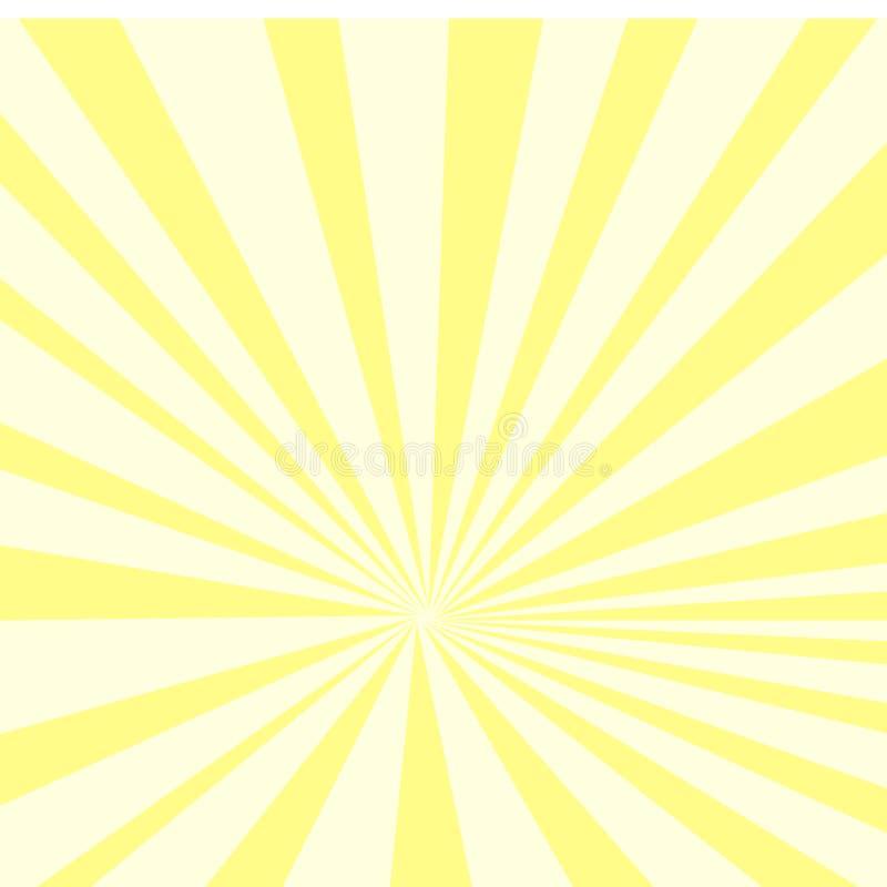 Pop-Arten-Hintergrund, gelbe Sonnenstrahlen auf einem orange Hintergrund, Rasterpunkte vektor abbildung