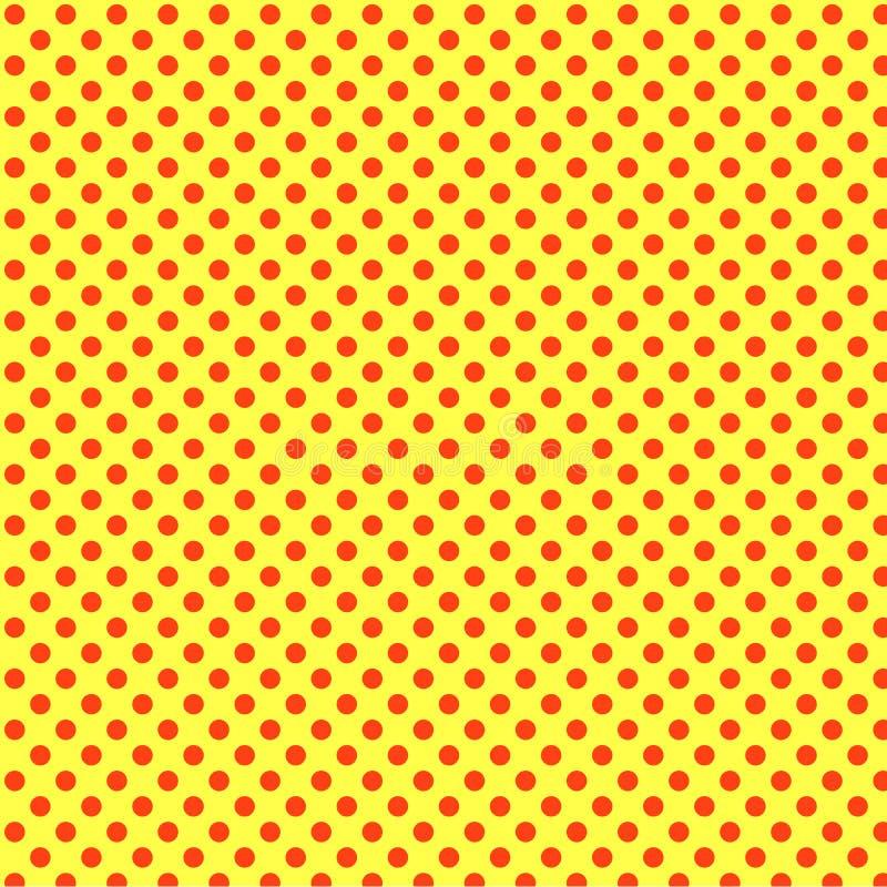 Pop-Arten-Orangenhintergrund hochrote Punkte, rot Nachahmung der Comicsart raster vektor abbildung