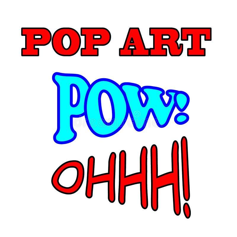 Pop-Arten-Textsatz Comic-Buch-Texte vektor abbildung
