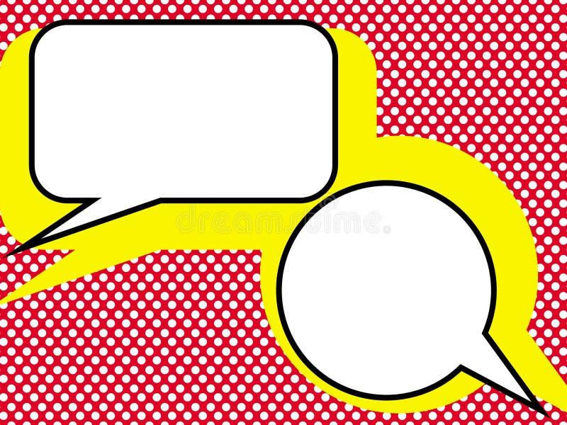 Pop bespreking. stock illustratie