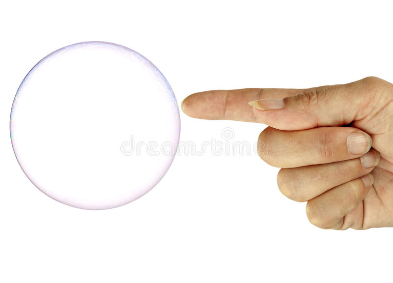 Pop! Bubble about to burst! royalty free stock photography