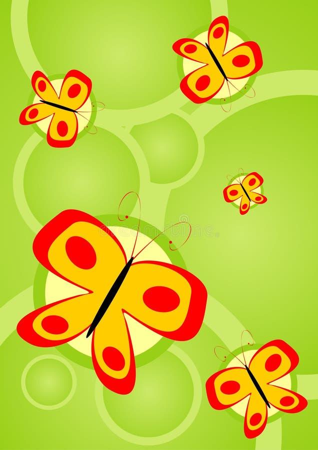 Pop butterflies stock illustration