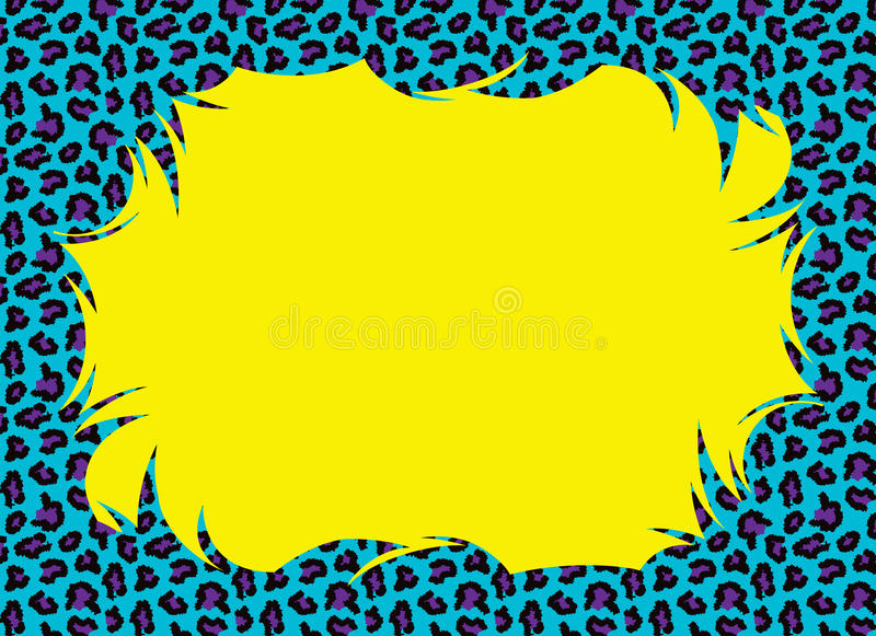 Pop Color Cheetah Fur Border Stock Illustration ...