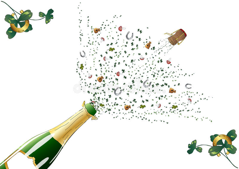 Pop The Corks Royalty Free Stock Photo