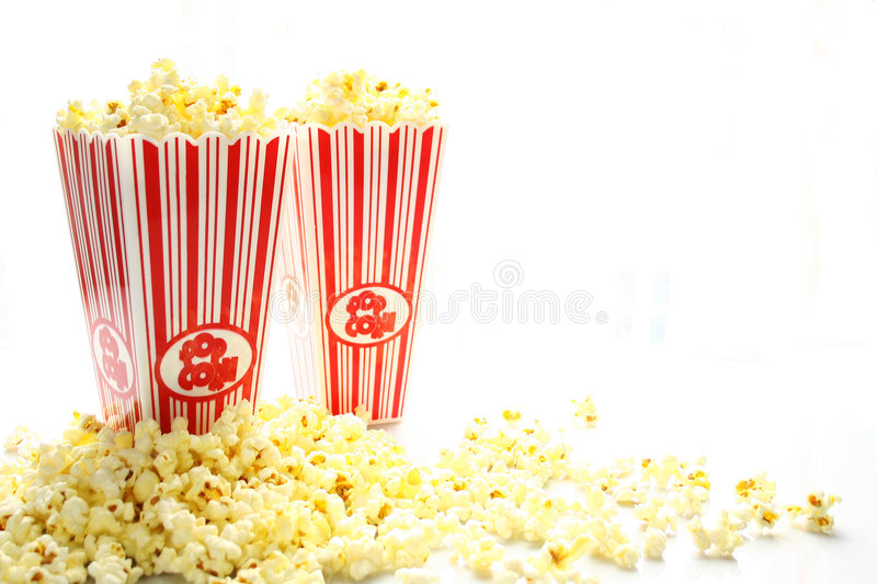 pop corn fotografia stock