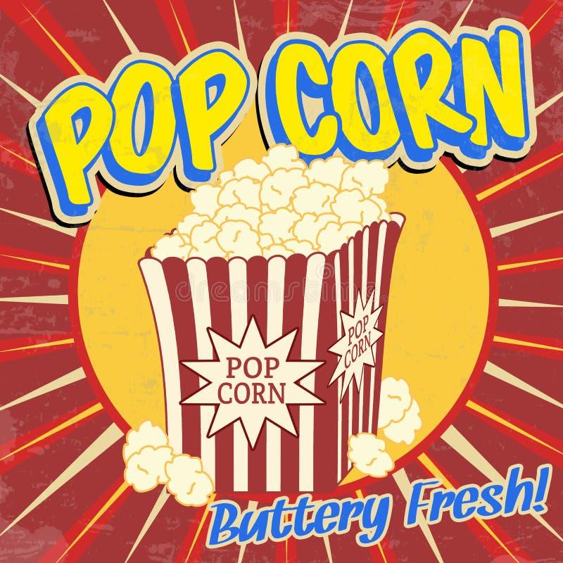 Free Pop Corn Vintage Poster Stock Photos - 34888753