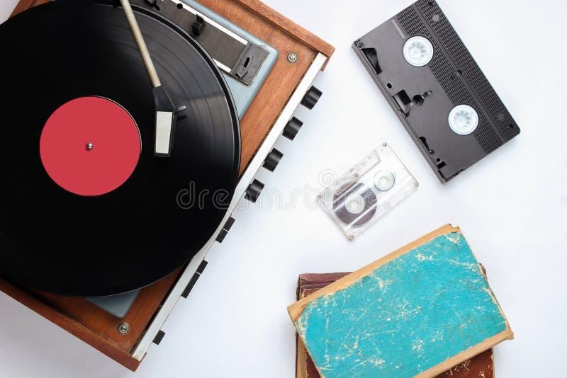 Pop cultuur retro voorwerpen stock afbeeldingen