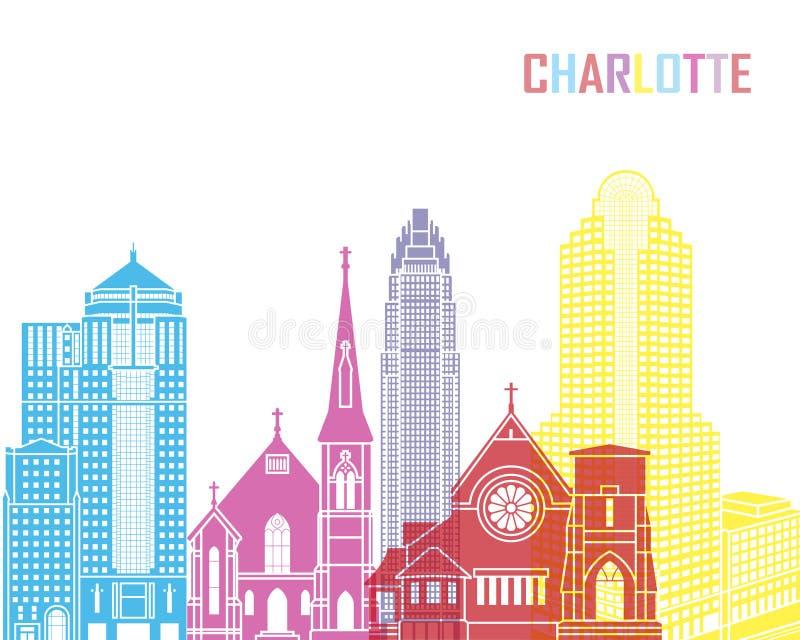 Pop de horizon van Charlotte royalty-vrije illustratie