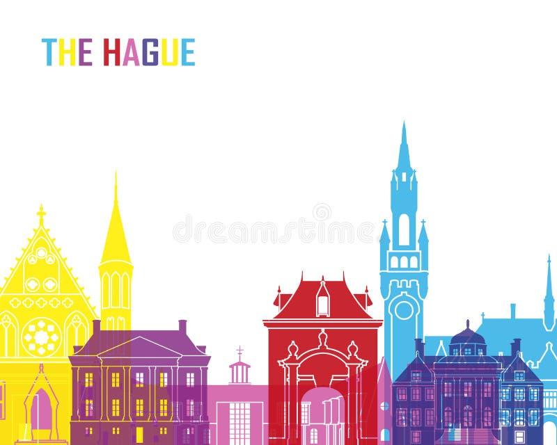 Pop de horizon van Den Haag royalty-vrije illustratie