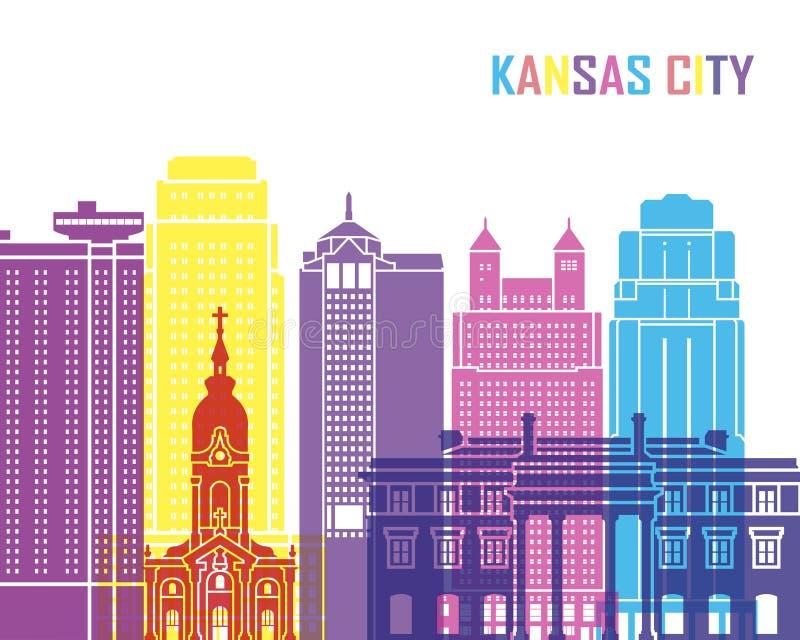 Pop de horizon van Kansas City_V2 stock illustratie