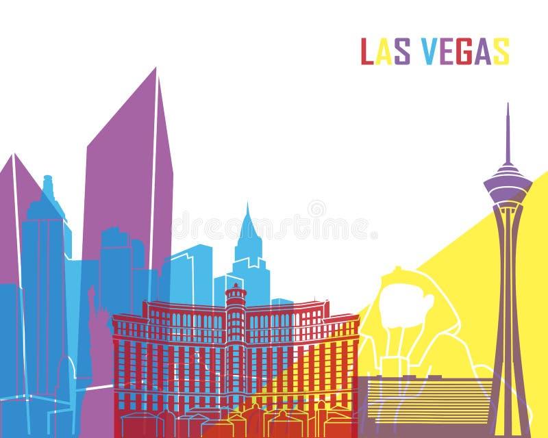 Pop de horizon van Las Vegas stock illustratie
