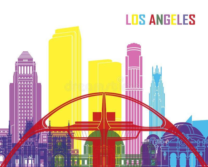 Pop de horizon van Los Angeles vector illustratie