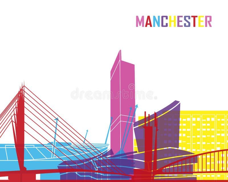 Pop de horizon van Manchester stock illustratie