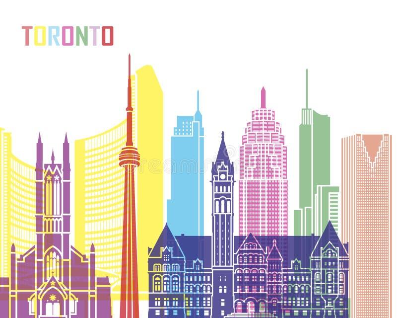 Pop de horizon van Toronto V2 stock illustratie