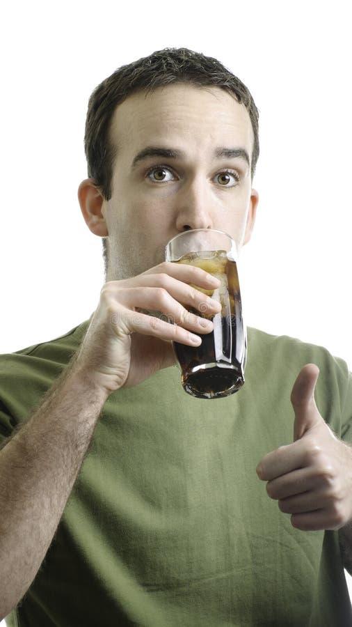 Pop Drinken van de mens royalty-vrije stock afbeelding