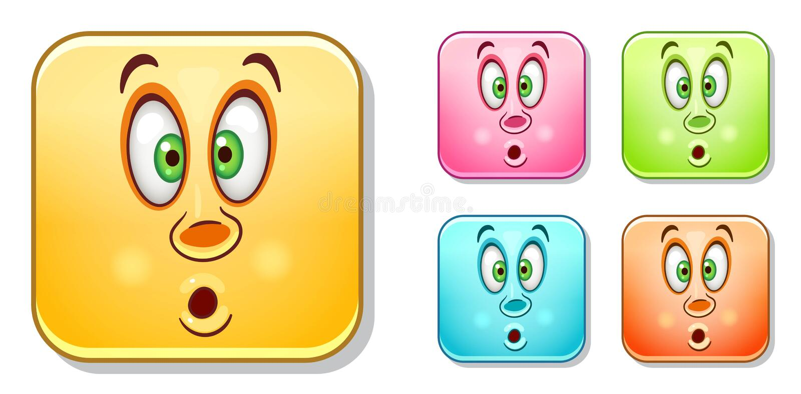Pop-eyed Emoticons collection royalty free stock image