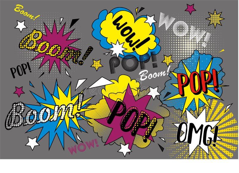 Pop graffiti stock illustratie
