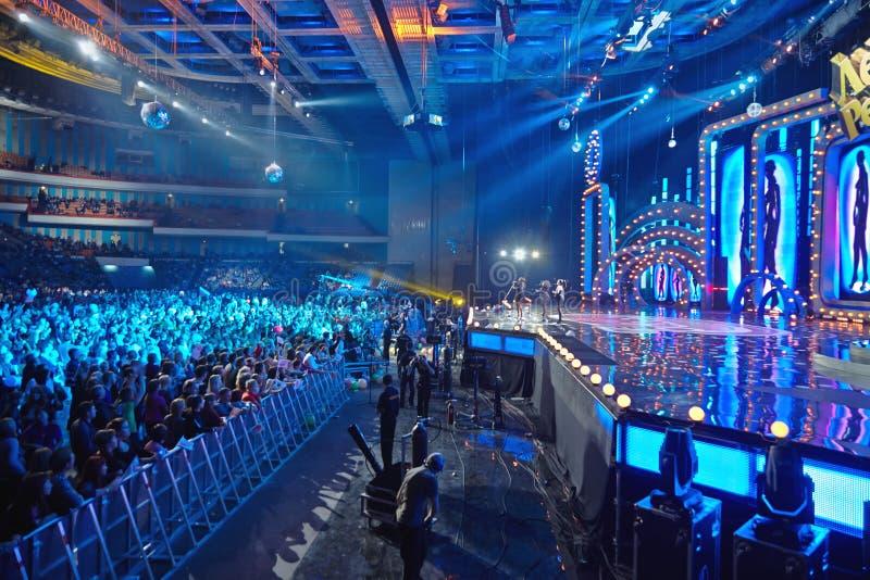Pop-grupp utbrott i konsertlegender av Retro FM royaltyfri fotografi