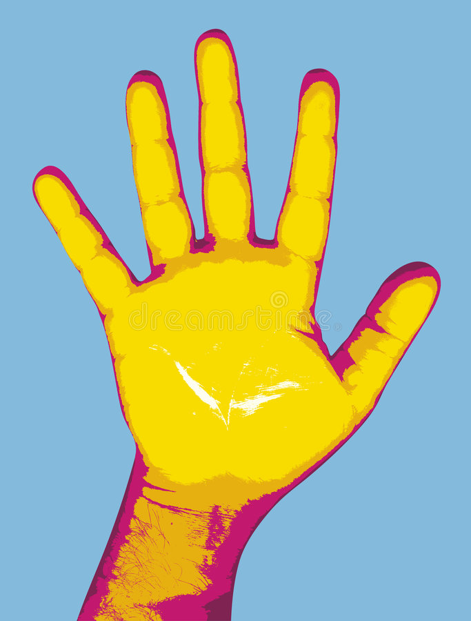 Pop hand royalty-vrije illustratie