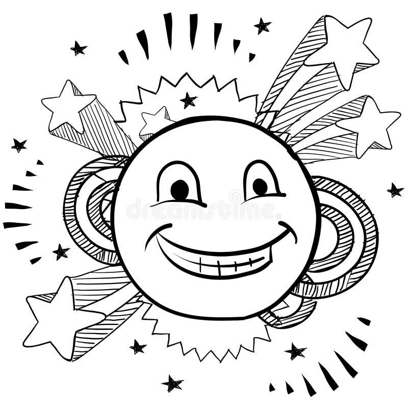 Pop happy face vector