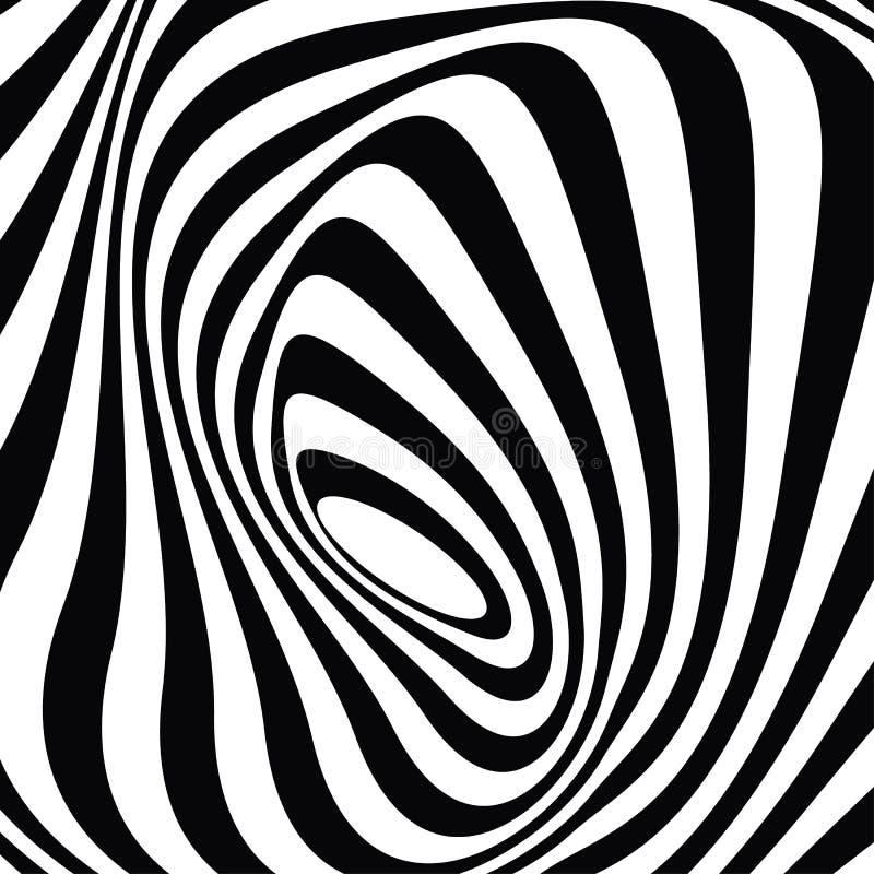 Pop ontwerp: zwart-wit optisch grafisch art. stock fotografie