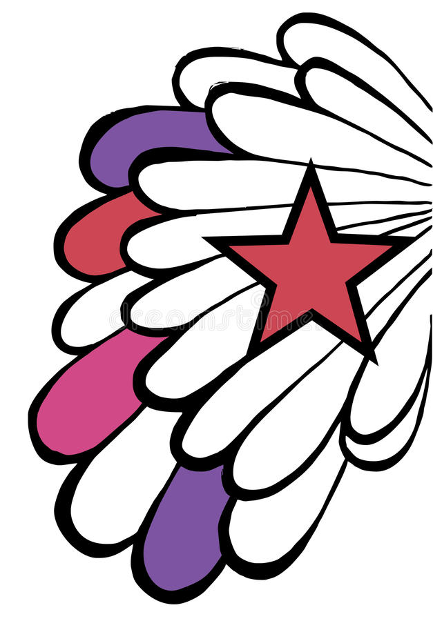 Download Pop Star Background. Wing And Red Star On White Stock Photos - Image: 10655453