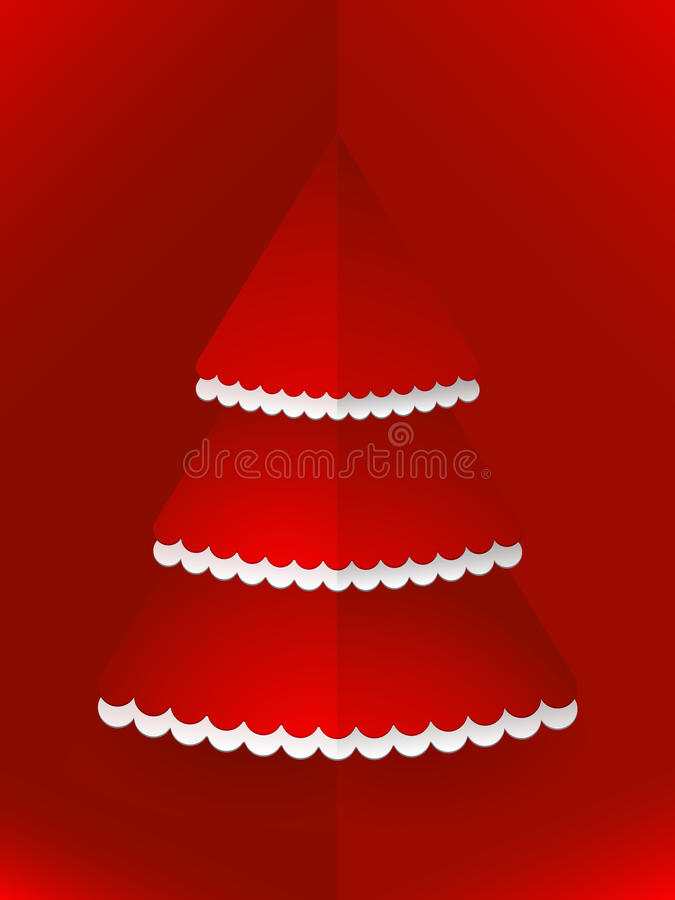 Pop up Christmas tree red