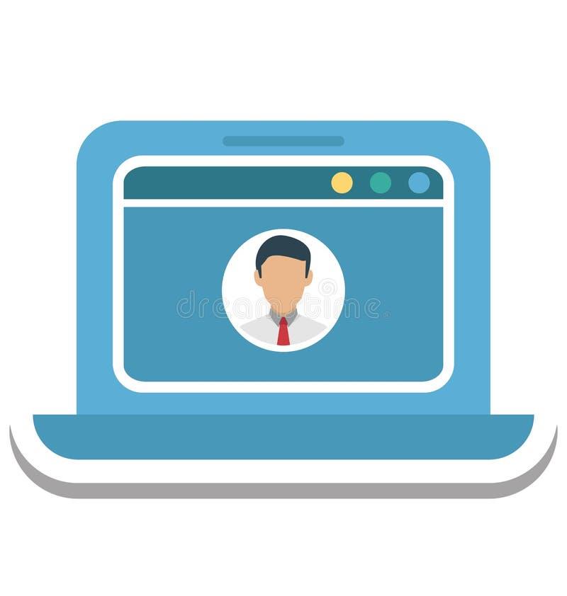 Pop-up di profilo, icona di vettore isolata profilo di web royalty illustrazione gratis