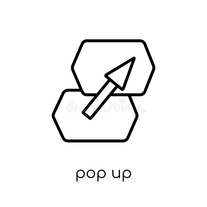 Pop up icon from Marketing collection. stock illustration