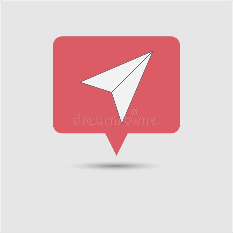 Pop-up sociale rosso di notifica del messaggio di media immagini stock libere da diritti