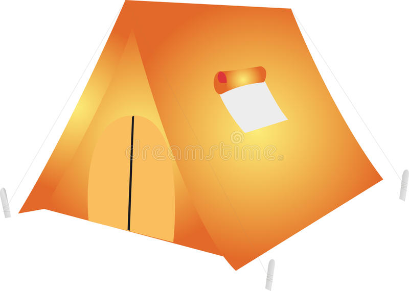 Download Pop-up Tent stock illustration. Image of protection, tent - 9696329