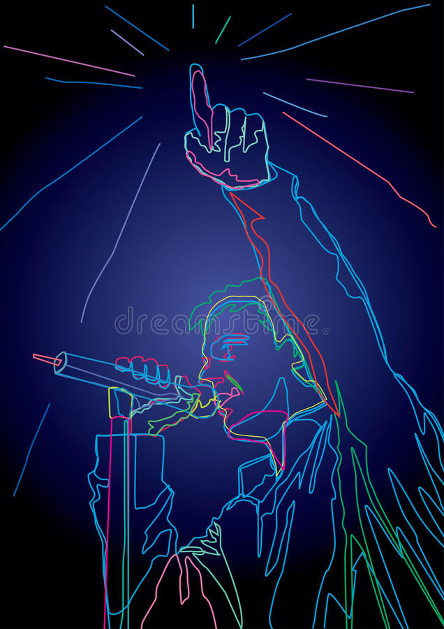 Pop zanger stock illustratie