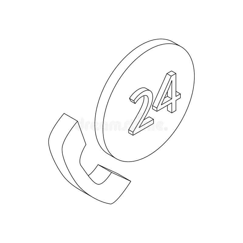 Poparcia centrum telefoniczne 24 godziny ikony royalty ilustracja